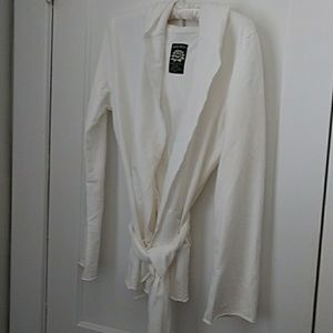 Lucky brand hooded light tie jacket/ coverup
